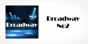 Broadway No2 font download