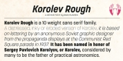 Korolev Rough font download