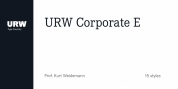 URW Corporate E font download