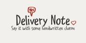 Delivery Note font download