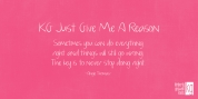 KG Just Give Me A Reason font download