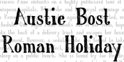 Austie Bost Roman Holiday Sketch font download