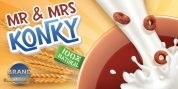Mr  Mrs Konky font download