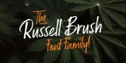 Russell Brush font download