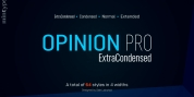 Opinion Pro Extra Condensed font download