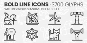 Bold Line Icons font download