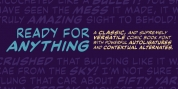 Ready For Anything BB font download