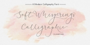 Soft Whisperings Calligraphic font download