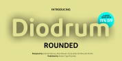 Diodrum Rounded font download