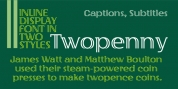 Twopenny font download