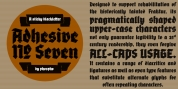 Adhesive Nr. Seven font download
