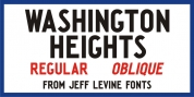 Washington Heights JNL font download