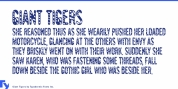 Giant Tigers font download