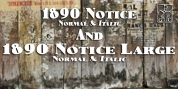 1890 Notice font download