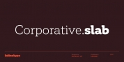 Corporative Slab font download