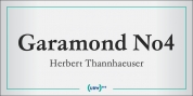 Garamond No. 4 font download