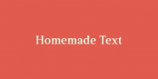 Homemade Text font download