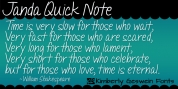 Janda Quick Note font download