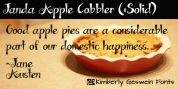 Janda Apple Cobbler font download