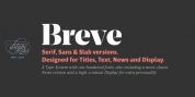 Breve Text font download