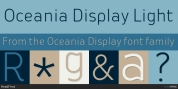 Oceania Display font download