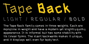 Tape Back font download