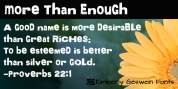 More Than Enough font download