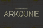 Arkqunie Outline Medium font download