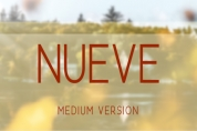 Nueve Medium font download