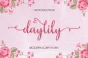 Daylily Script font download
