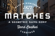 Matches font download