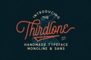Thirdlone Family font download