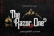 The Razor one font download