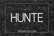 Hunte Medium font download