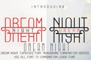 Dream Nigt font download