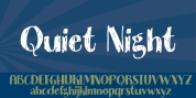 Quiet Night font download