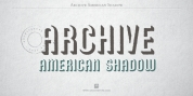 Archive American Shadow font download