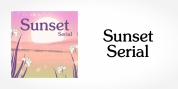 Sunset Serial font download