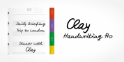 Clay Handwriting Pro font download