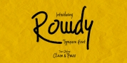 Rowdy font download