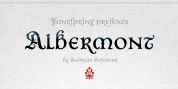 Albermont font download