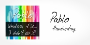 Pablo Handwriting font download