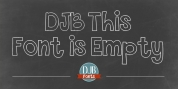 DJB This Font Is Empty font download