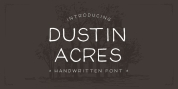 Dustin Acres font download