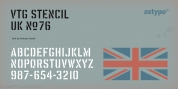 Vtg Stencil UK No.76 font download