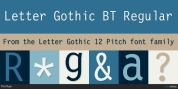 Letter Gothic 12 Pitch font download