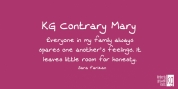 KG Contrary Mary font download
