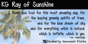 KG Ray of Sunshine font download