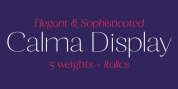 Calma Display font download