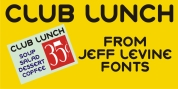 Club Lunch JNL font download